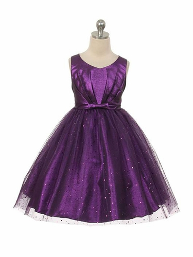 Purple Sparkly Tulle Dress