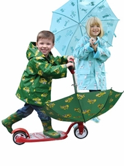 Kids Rain Gear: Jumping in Puddles