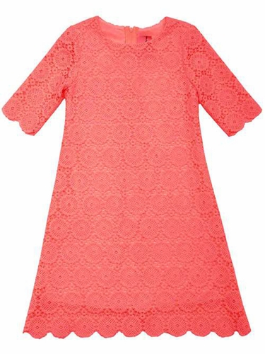 Rare Editions Coral Lace Dress