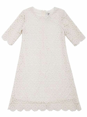 Rare Editions Ivory Lace Dress