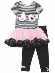 Rare Editions Love Birds Mesh Tutu Set