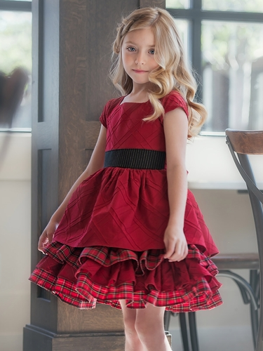 Red Persnickety Candy Cane Collection Lisa Dress