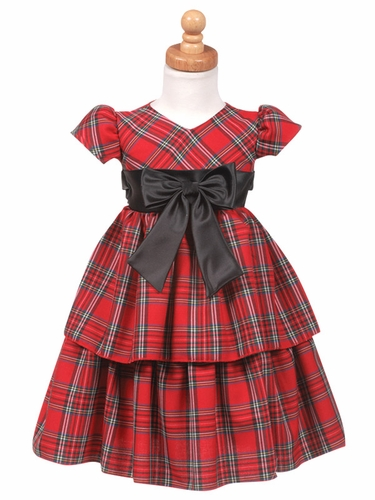 Red Plaid Dress w/ Layered Skirt