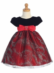 Red Velvet w/ Sparkle Tulle Skirt