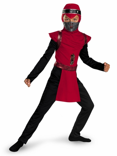 Red Viper Ninja Classic Kids Costume