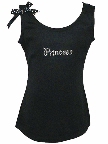 Rhinestone Princess Tank Top