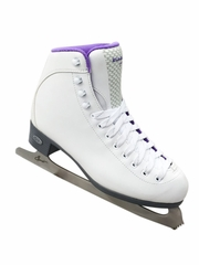 Riedell Ice Skates 118 White/Purple Spiral Ladies Shoes