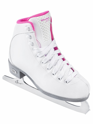 Riedell Ice Skates 18 White Spiral Girls Shoes