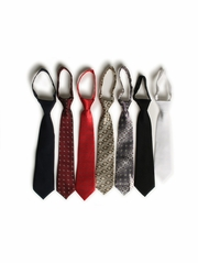 Ring Bearer Boys Color Zipper Ties