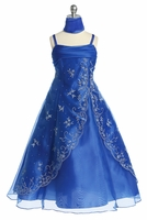 Royal Blue Beaded A-line Special Occasion Dress
