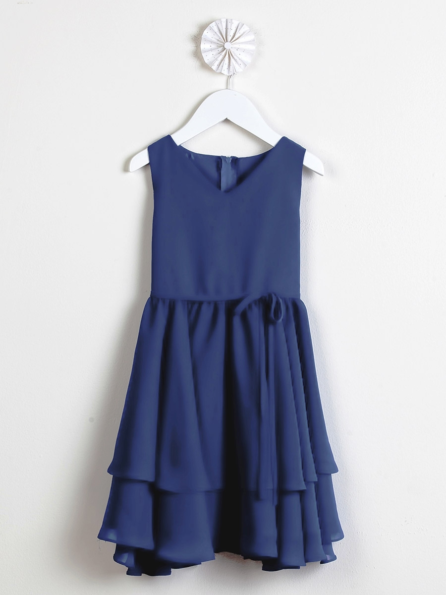 Dresses amp spring dresses gt royal blue chiffon double layered dress