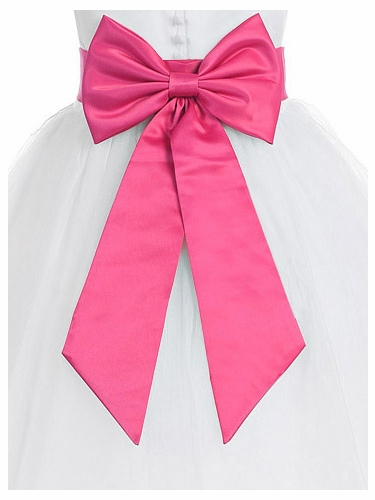 Satin Sash w/ Bow