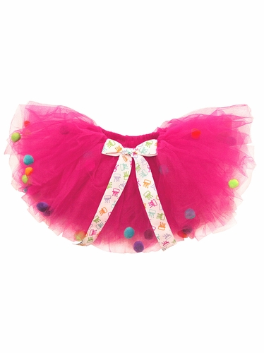 Shocking Pink Pom Pom Birthday Tutu