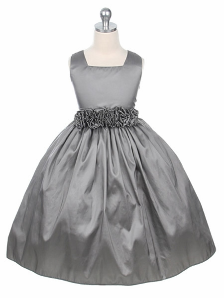 Silver & Gray Flower Girl Dresses - PinkPrincess.com