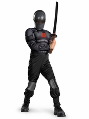Snake Eyes Light Up Deluxe Muscle Boys Costume