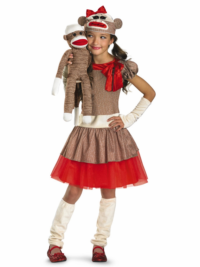 Home gt kid s costumes gt girl s halloween costumes gt sock monkey girl