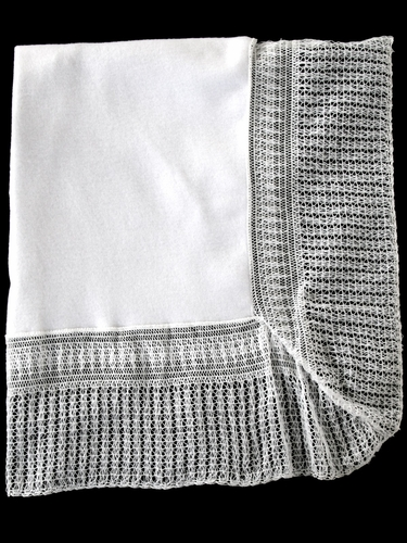 Solid White Baby Shawl