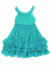 Stella Industries Aqua �Starlet� Tulle Dress