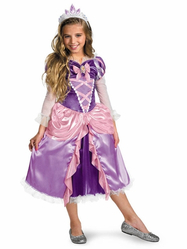 """Tangled"" Rapunzel Shimmer Deluxe Girls Costume"