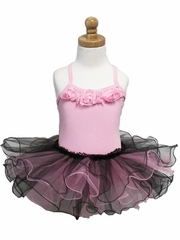 Toddler Pink/Black Stiff Tutu