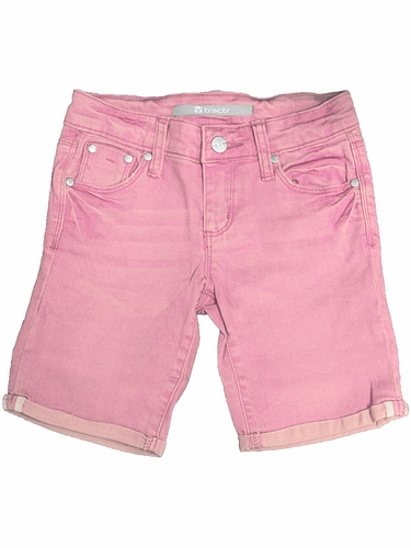 Tractr Jeans Pink 5 Pocket Basic Bermuda Shorts