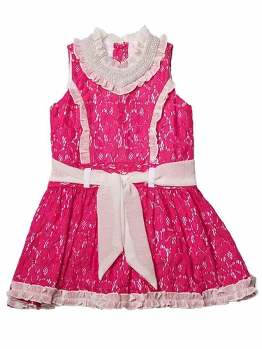 Trish Scully Child Azalea Pink Lace Princess Dress