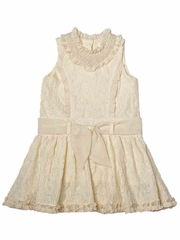 Trish Scully Child Dobby & Ivory Lace Princess Dress