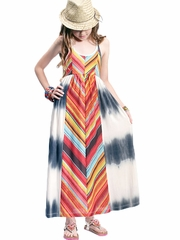 Truly Me Chevron Maxi Dress