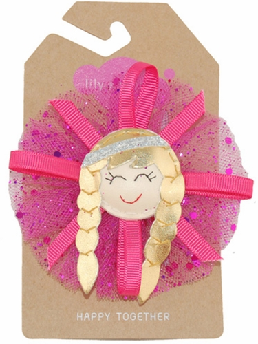 Tulle Pink Princess Hair Clip