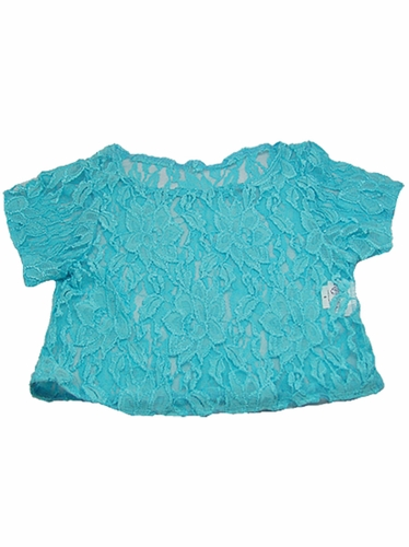 Turquoise Lace Cover Top