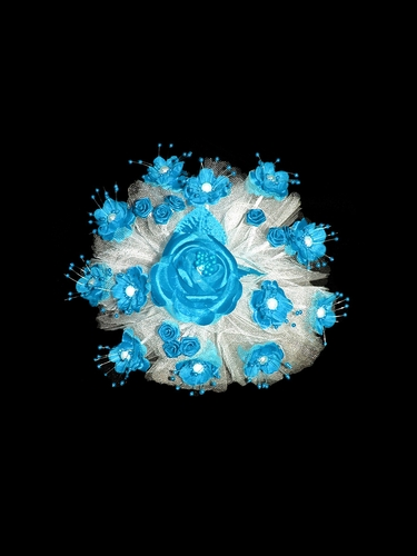 Turquoise Small Round Flower Bouquet