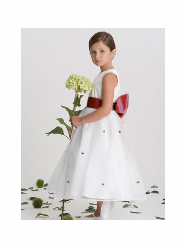 US Angels Burgundy Rosebud Dress