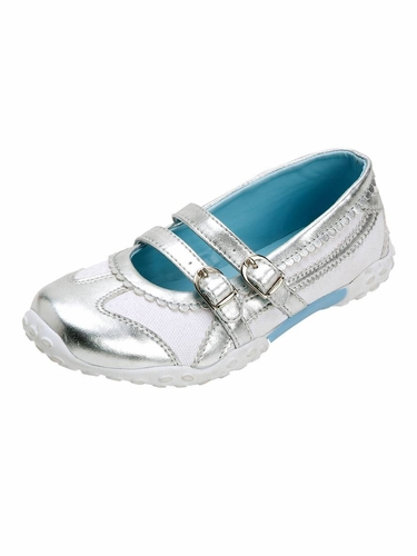 White Double Strap Shoes