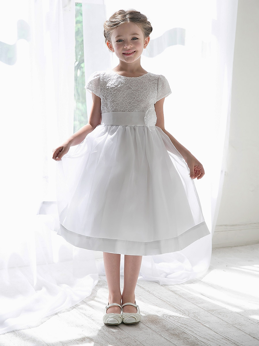 White Flower Girl Dresses - PinkPrincess.com