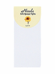 White Girls Nylon Opaque Tights