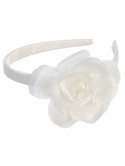 White Headband w/ Large Flower