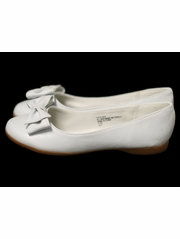 White Kids Flats w/ Bow