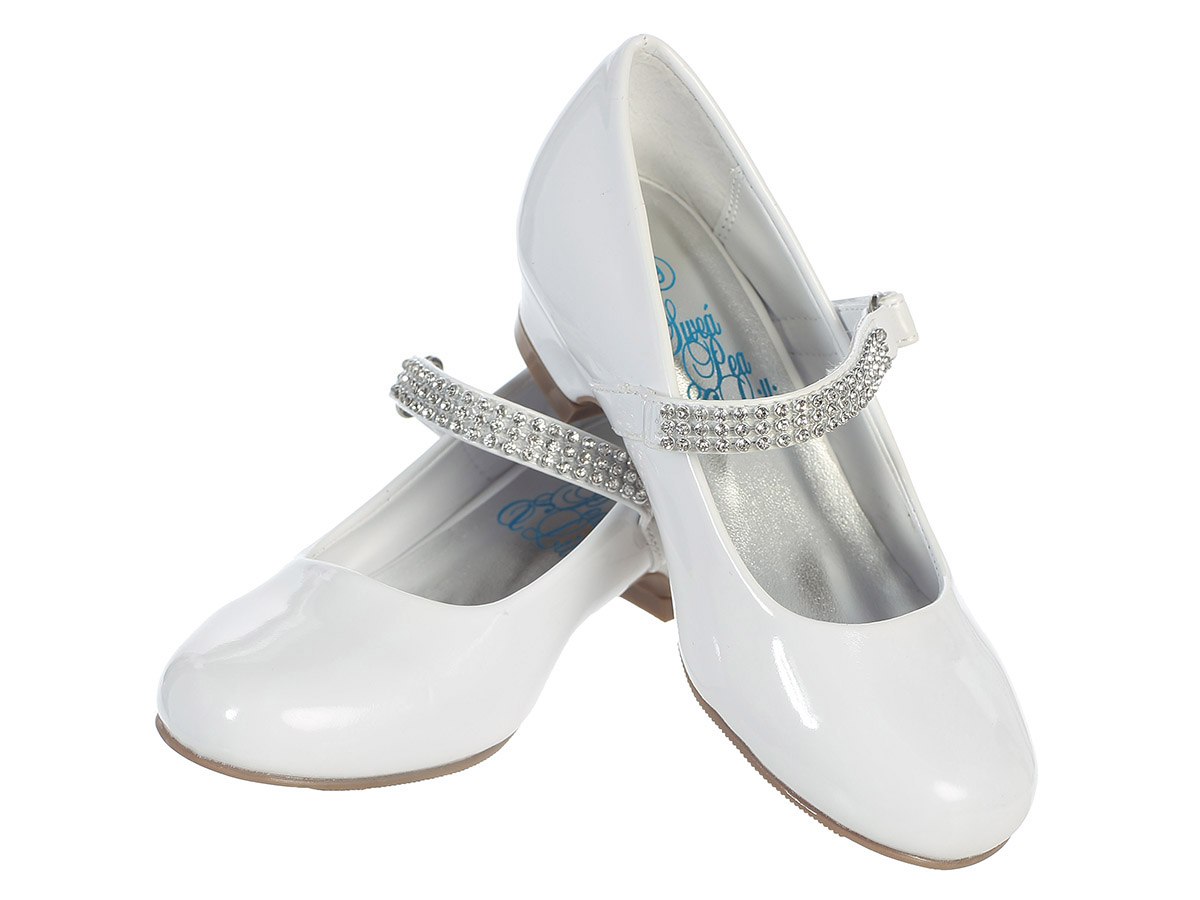 Girls white dress shoes pic 42