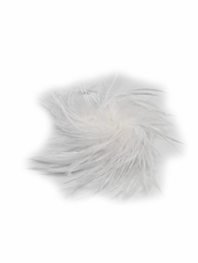 White Ostrich Feather Clip