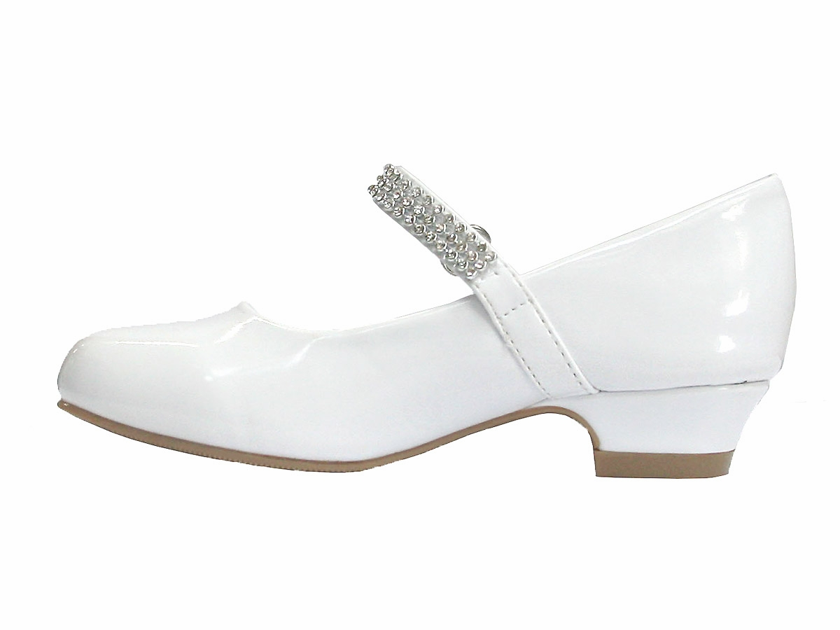 White Small Heel Shoes - Is Heel