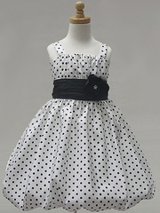 White Polka Dot Bubble Dress