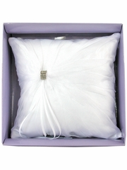 White Rhinestone Ring Bearer Pillow