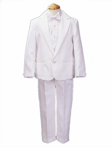 White Straight Jacket Tuxedo for Bigger Boys