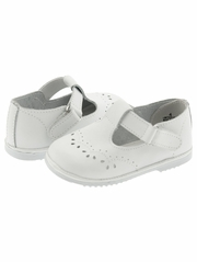 White T-Strap Mary Jane Shoes
