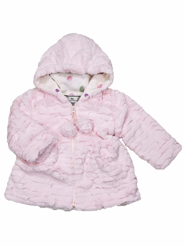 Widgeon Terrace Wave Pink Hooded Pom Pom Jacket