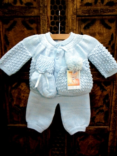 Will'beth Blue 4 PC Knit Set