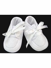 Will'beth Boys White Christening Shoes