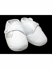 Will�beth Boys White Cotton Christening Shoes