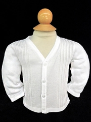 Will�beth Infant Boys White V-Style Sweater