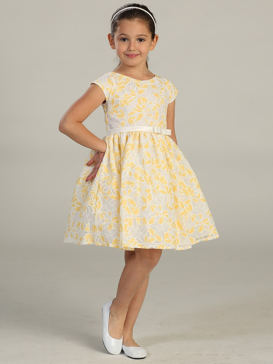 Yellow Springtime Flower Girl Dresses 71